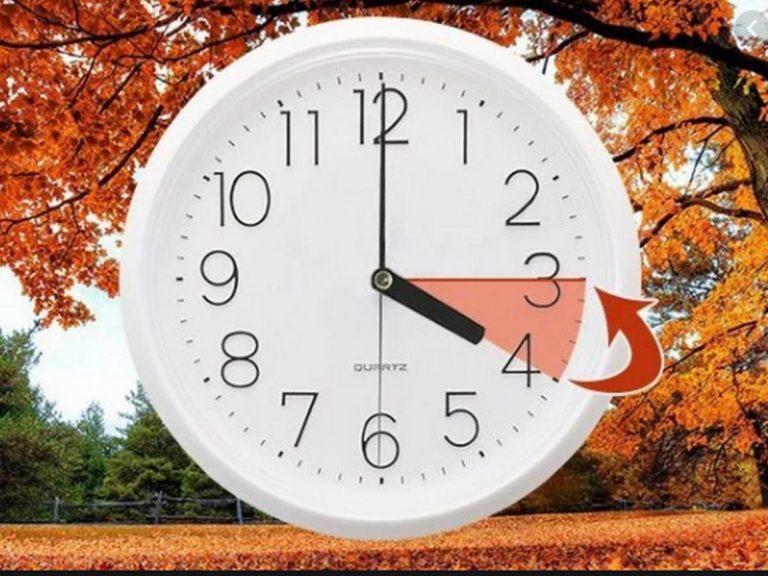 Не забудьте перевести часы на час назад