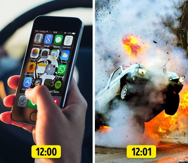 Использование мобильных телефонов во время вождения стало главной причиной ДТП
