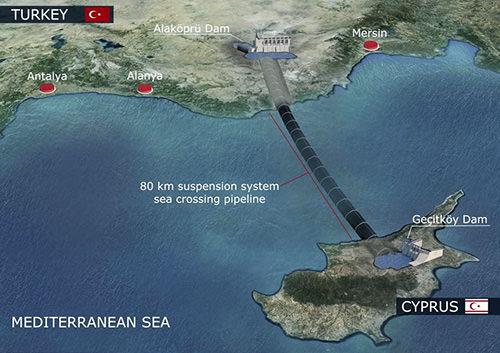 Утечка в водопроводе из Турции на ТРСК