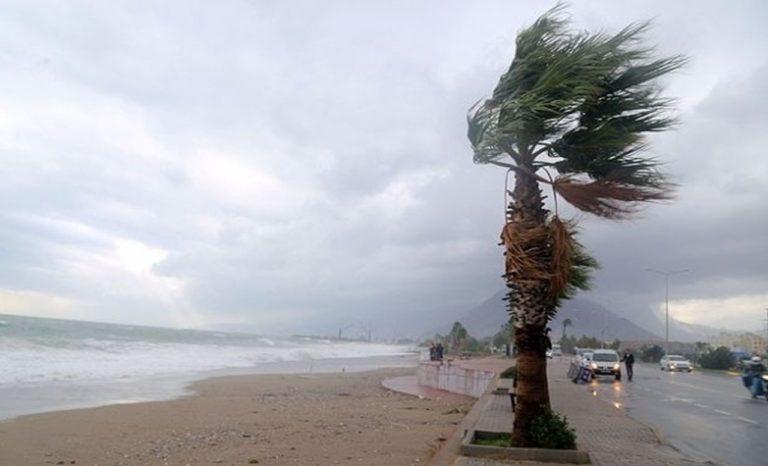 Сильный ветер и холодная погода