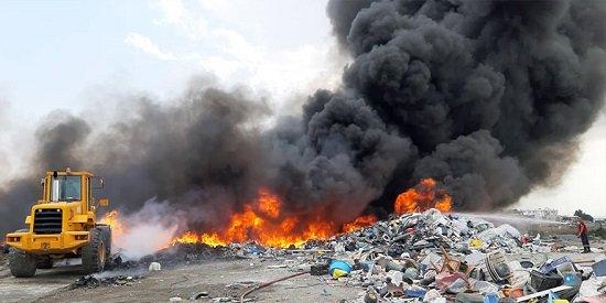 Пожар в зоне переработки пластика под контролем