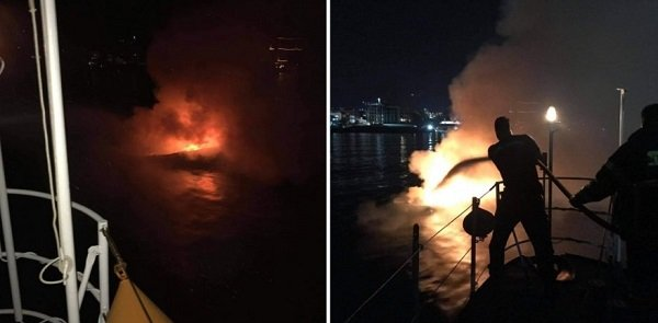 В Кирении произошел взрыв на лодке